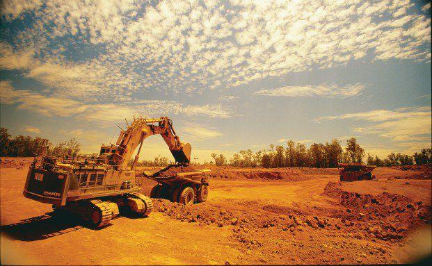 Bauxit-Abbau in der australischen Huntly-Mine des<br>Unternehmens Alumina. Bauxit ist der Grundstoff f&uuml;r die<br>Aluminiumgewinnung (Foto: Alumina)