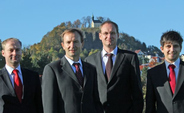 Das Fondsmanagement-Team von Robert Beer Investment (von links): Thomas Polach, Robert Beer, Peter Lukas und Alexander Müller