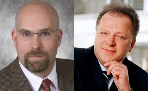 Allianz-GI-Manager Steven J. Berexa (links), Siemens-Konkurrent Wolfgang Nagengast