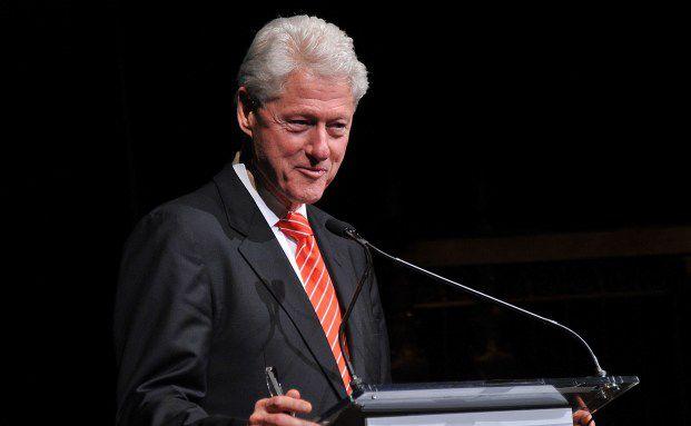 Pr&auml;sident au&szlig;er Dienst in Plauderlaune: Bill Clinton<br>Quelle:Getty Images