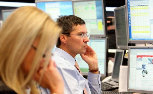 Aktienhändler an der Frankfurter Börse. Foto: Getty Images
