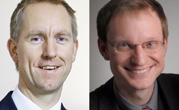 Maik Bolsmann, Geschäftsführer von B & K Vermögen in Köln (links) und Marc-Oliver Lux, Geschäftsführer der Dr. Lux & Präuner GmbH & Co. in München