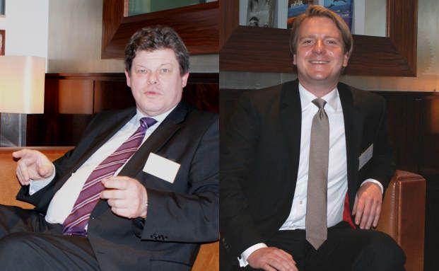 Norbert Braems (li.), Chefvolkswirt von Sal. Oppenheim,<br>und Lars Edler, Leiter Asset Allocation