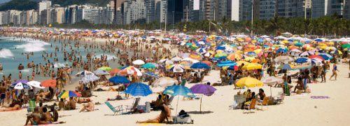 Der Strand Copacabana in Brasilien; <br> Quelle: Fotolia