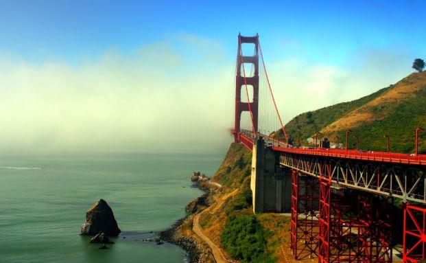 Golden Gate Bridge in San Francisco, Kalifornien. <br> Das Vertrauen US-amerikanischer Investoren in die <br> Aktienm&auml;rkte legte im M&auml;rz stark zu. Quelle: Fotolia