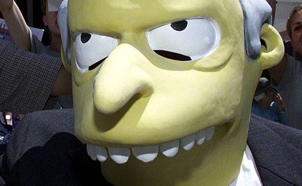 """Atomkraftwerkbesitzer Charles Montgomery Burns, von der Kultserie """"Die Simpsons"""", schafft es nur auf Platz zehn (Foto: Getty Images)"""