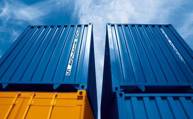 Container im Hamburger Hafen am Buss Hansa Terminal, <br> Quelle: Buss Capital