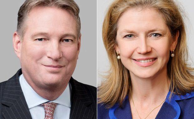 Paul Smith (li.), Präsident und Geschäftsführer des CFA Institute und Susan Spinner, Geschäftsführerin der CFA Society Germany