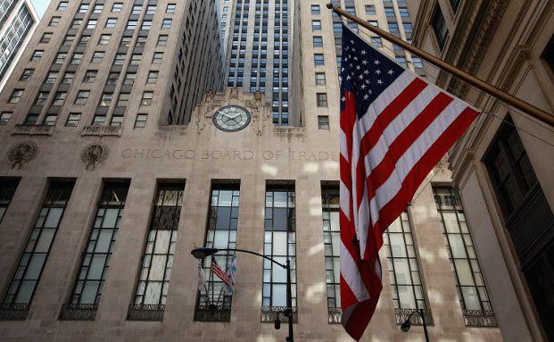 Im Chicago Board of Trade Building sitzt die 1848 gegründete und damit weltälteste Terminbörse für Fremwährungsgeschäfte.