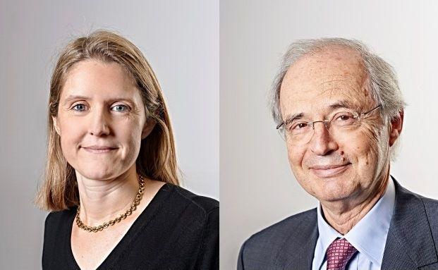 Volkswirtin Florence Pisani und Anton Brender, Chefvolkswirt bei Candriam.
