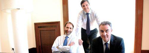 Die Cartesio-Teilhaber (von links): Alvaro Martinez,<br>Cayetano Cornet und Juan Bertran