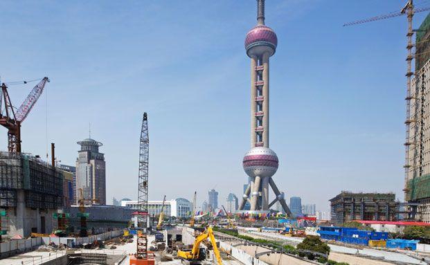 Ein Stra&szlig;enbauprojekt in China. <br> Die HSBC-Fondsmanagerin Mandy Chan setzt auf die <br> Zement-Branche im Reich der Mitte. Quelle: Istock