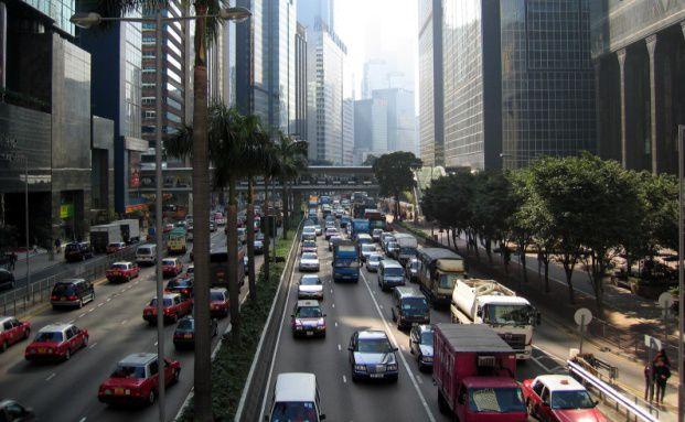 Rush-Hour in einer chinesischen Gro&szlig;stadt. <br> Quelle: Fotolia