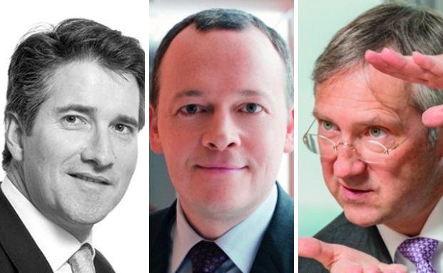 Diese drei Chefs europäischer Fondsboutiquen gehören zu den besten ihrer Zunft. Foto rechts: Jürgen Bindrim