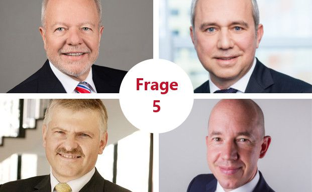 Rolf Ehlhardt (oben links), Uwe Zimmer (oben rechts), Gottfried Urban (unten links), Volker Schilling (unten rechts).