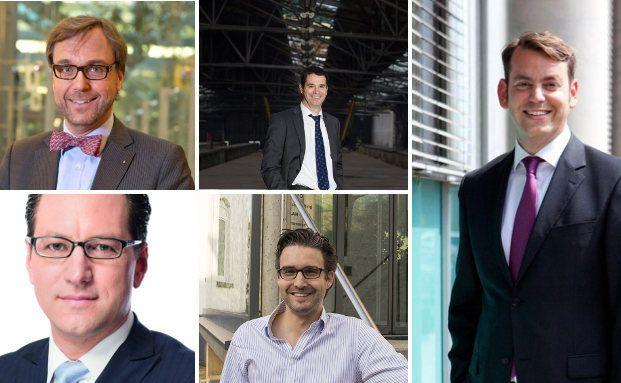 (v.l.) Guido Küsters, Martin Steinmeyer, Oliver Pradetto, Oliver Vins und Stefan Grabmaier. Die 5 Experten geben ihre Meinung zu künftigen Entwicklungen in der Berater-Branche ab.