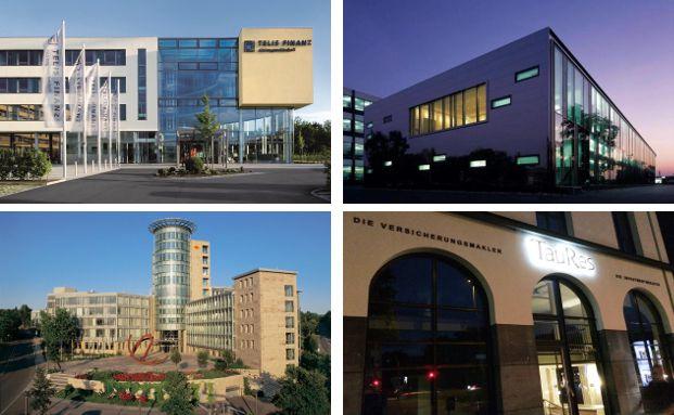 Vier der Finanzunternehmen, die bei Kununu in den Top 10 landen.