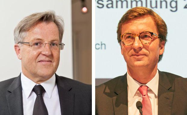 Karl Benedikt Biesinger (l.) ist Mitgründer der Heidelberger Kanzlei Reiserer Biesinger Rechtsanwälte. MLP-Vorstandsvorsitzender Uwe Schroeder-Wildberg auf der MLP-Hauptversammlung 2016