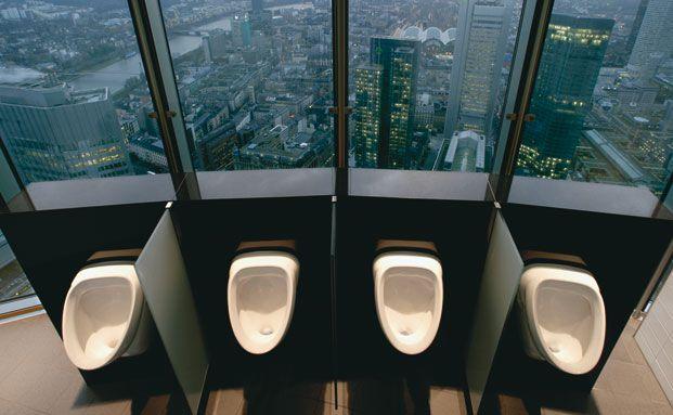 Frankfurts h&ouml;chstes &Ouml;rtchen: Vorstandstoilette <br> in der Commerzbank-Zentrale (aus dem Bildband <br>