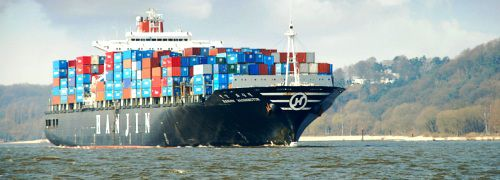 Containerschiff Hanjin Washington, pixelio
