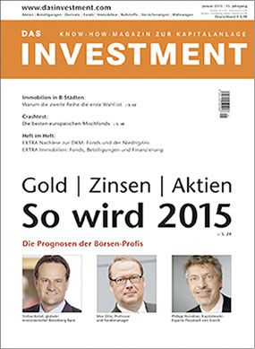 Ausgabe Januar 2015 ab sofort am Kiosk: Gold | Zinsen | Aktien