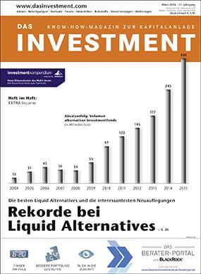 Ausgabe März 2016 ab sofort am Kiosk: Die besten Liquid Alternatives und die interessantesten Neuauflegungen