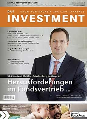 Ausgabe Mai 2015 ab sofort am Kiosk: UBS-Vorstand Matthias Schellenberg im Gespräch