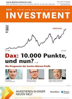 Ausgabe August 2014 sofort am Kiosk: Dax: 10.000 Punkte, und nun?