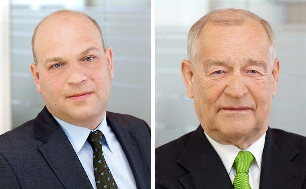 """Michael Kohlhase (rechts) und Detlef Kohlhase von der Dr. Kohlhase Vermögensverwaltung. """"Wer auf unsere Fonds vertraut, profitiert in der Regel zwar nicht in vollem Umfang von exorbitanten Kurszuwächsen in Boom-Phasen. Er muss aber auch keine großen Verluste befürchten, wenn es mal am Markt ungemütlich wird"""", sagt Michael Kohlhase."""