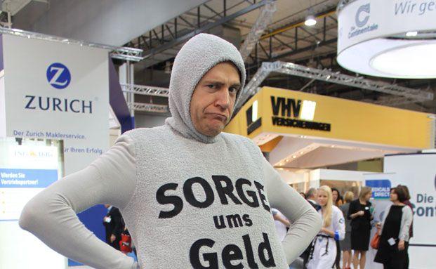 Auch auf der DKM 2012: Das Werbemaskottchen von Gothaer Asset Management. Fotos von Oliver Lepold