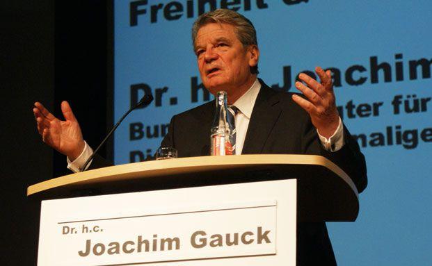 Joachim Gauck referierte auf dem BCA-Messekongress &uuml;ber <br>Freiheit und Selbstverantwortung