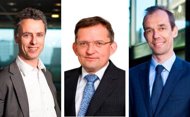 Chief Investment Officer Lukas Daalder, Chefvolkswirt Léon Cornelissen und Portfolio Manager Kommer van Trigt (von links nach rechts) von der niederländischen Fondsgesellschaft Robeco.