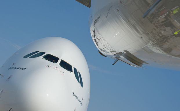 Airbus A380: Rund 150 Exemplare des Mega-Fliegers sind bereits im Einsatz. (Foto: Airbus S.A.S. / Master Films / A. Doumenjoou)