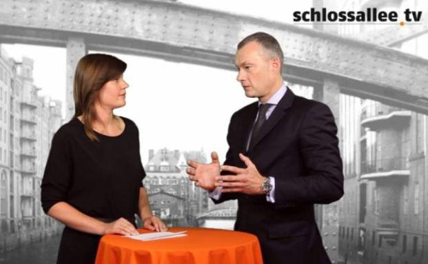 Axel Stiehler, Geschäftsführer von Aquila Capital Advisors, im Gespräch mit DAS INVESTMENT Redakteurin Astrid Lipsky