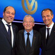DVAG-Vorstand Reinfried Pohl (Mitte),<br>Andreas (li.) und Reinfried Pohl jr.