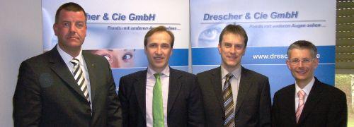 Von links: Bj&ouml;rn Drescher (Drescher & Cie.), Gernot<br>Archner, (Bundesverband der Immobilien-Invest-<br>ment-Sachverst&auml;ndigen), Marcus Kemmner (TMW<br>Pramerica Property Investment), Dirk Meiwirth<br>(Credit Suisse Real Estate Asset Management)