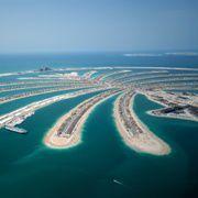 Die k&uuml;nstliche Insel Palm Jumeirah in<br>Dubai. Foto: Fotolia