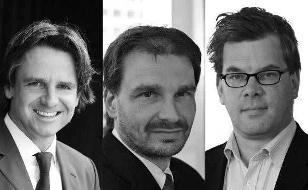 Peter Ehlers, Egon Wachtendorf und Malte Dreher (v.l.n.r.),<br>DAS INVESTMENT, streiten Freitagabend &uuml;ber die Sharpe Ratio