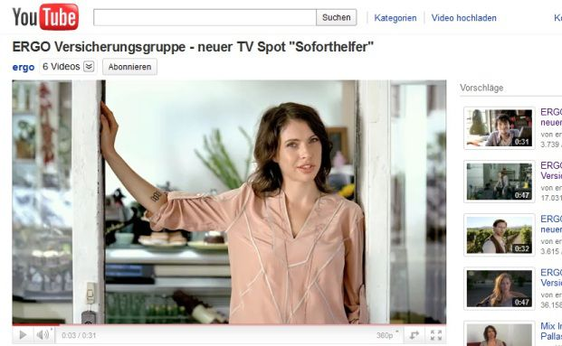 Screenshot des Ergo-Films auf Youtube