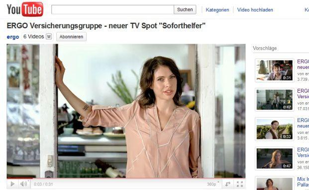 Screenshot des Ergo-Films auf Youtube