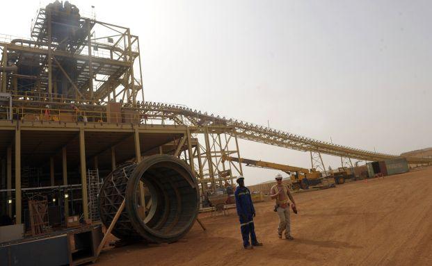 Baustelle auf der Essakane Goldmine in Burkina Faso,<br>Westafrika. Die Mine soll 12 Tonnen Gold im<br>Jahr bringen (Foto: Getty Images)