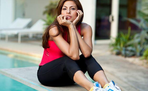 Schicker Schuh, schönes Gesicht: Schauspielerin Eva Mendes <br> wirbt für Easytone-Turnschuhe von Reebok, Foto: Reebok