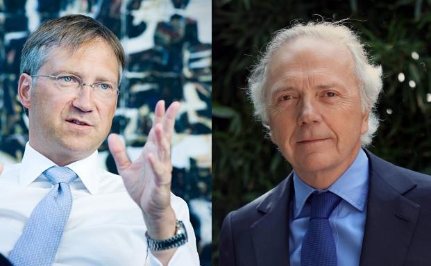 Bert Flossbach und Edouard Carmignac (r)