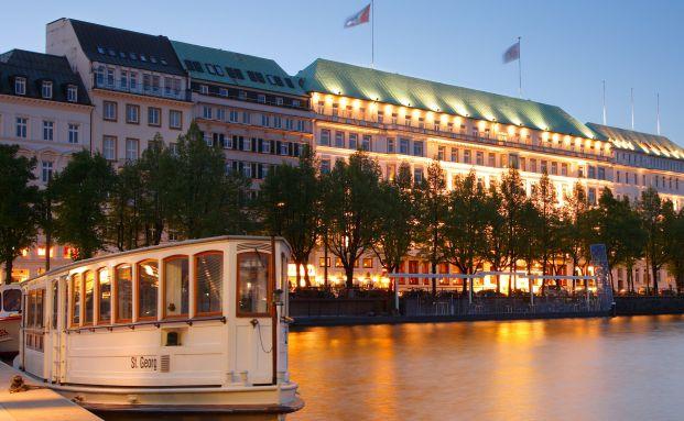 Das Vier Jahreszeiten Hotel an der Hamburger Binnenalster