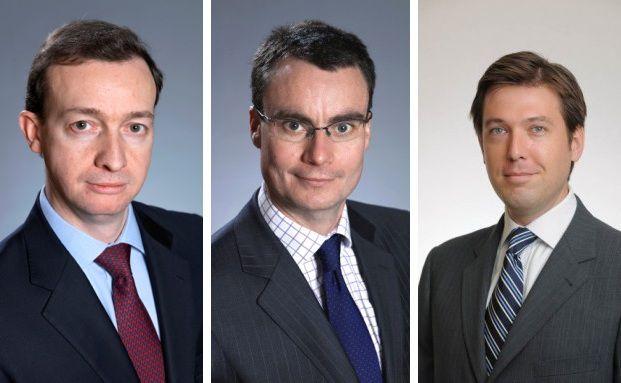 Andrew Wells, Andy Weir und Bryan Collins (v.li.)