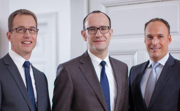 Geschäftsführung der Financial Planning: Mathias Lebtig, Jürgen Schwab und Sascha Anspichler (v. l.).