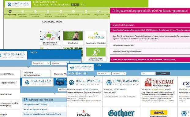 """Screenshots von """"World of Finance"""" – Jung, DMS & Cie. hat seine Beratungssoftware einer umfangreichen Auffrischungskur unterzogen"""