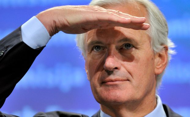 EU-Kommissar Michel Barnier sucht Hilfe: Er ist f&uuml;r eine Steuer<br> auf Finanztransaktionen und die Schaffung einer europ&auml;ischen <br> Katastrophenschutztruppe.<br>Quelle: Getty Images
