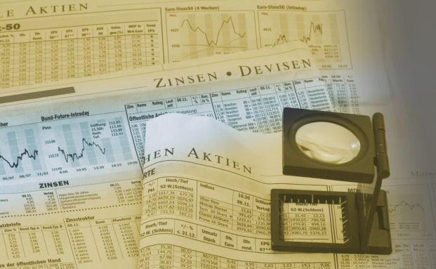 Das andere Day-Trading. Tagesaktuelle Fondstabellen im Wirtschaftsteil einer Zeitung. Bild: Pixelio