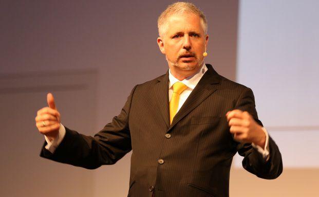 Dirk Müller auf der KVK-Messe von Fondsfinanz. Foto: Fondsfinanz